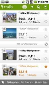 Rentals List View